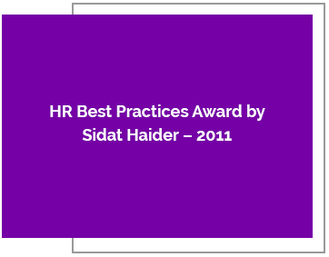 HR Best Practices Award by Sidat Haider – 2011